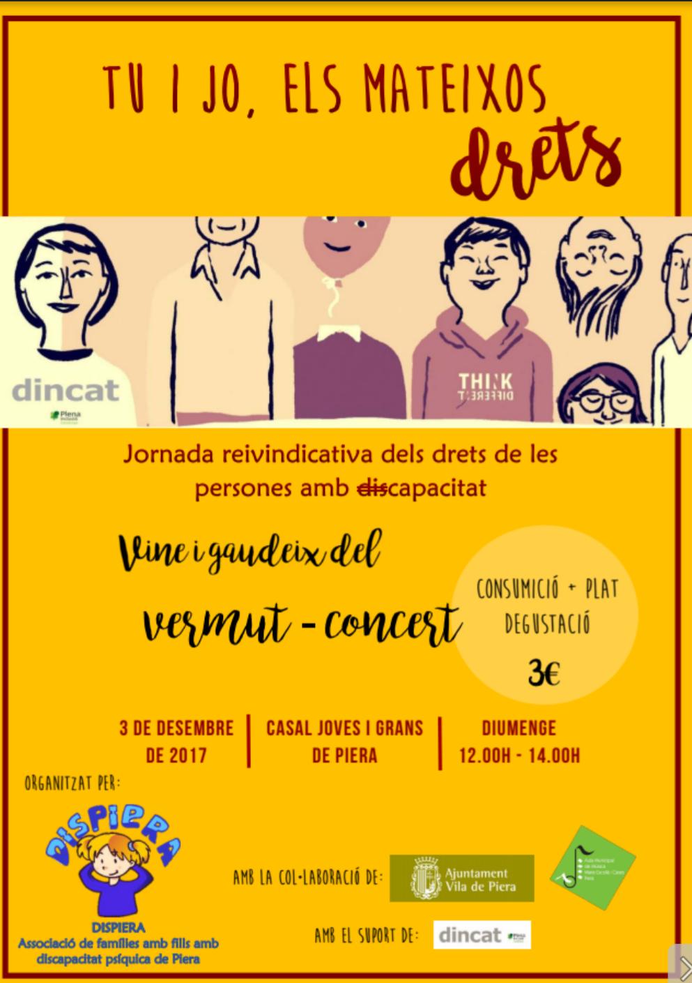 DISPIERA – Dia internacional de les persones amb discapacitat
